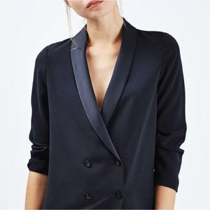 TopShop Navy Double Breasted Boyfriend Blazer